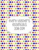 Teacher Essentials: 2017-2018 Planner, Organizer, Gradeboo
