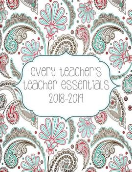 2016-2017 Teacher Essentials:Planner/Organizer/Gradebook (