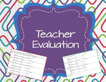 Teacher Evaluation