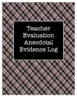 Teacher Evaluation Anecdotal Log Template