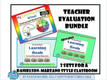 LEARNING GOALS:Teacher Evaluation BUNDLE for a Danielson-Marzano Style Classroom
