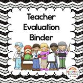 Back to School Teacher Evaluation Binder