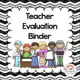 Back to School Teacher Evaluation Binder