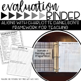 Teacher Evaluation Binder Charlotte Danielson Black and White