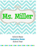 Teacher Evaluation Binder {Chevron}