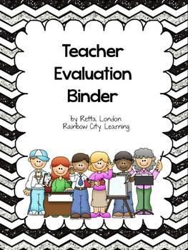 Teacher Evaluation Binder: Customized Version