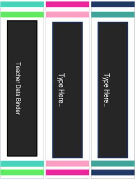 Teacher Data  Binder : Danielson Framework (Editable)