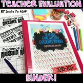Teacher Evaluation Evidence Binder