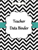 GA Teacher  Data Binder Chevron (Editable)