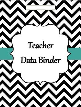 GA Teacher  Data Binder Chevron (Editable)