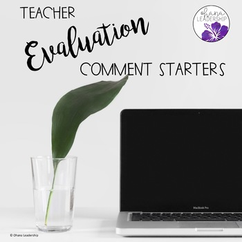 Teacher Evaluation Comment Starters