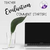 Teacher Evaluation Comment Starters