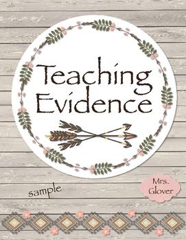 Teacher Evaluation Evidence Binder - Charlotte Danielson Model - Arrows
