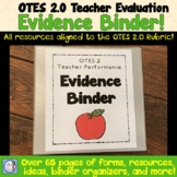 Teacher Evaluation Evidence Binder (based on OTES)