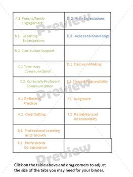 Teacher Evaluation Evidence Portfolio Binder EDITABLE Pink Chevron