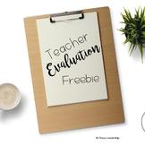 Teacher Evaluation Freebie