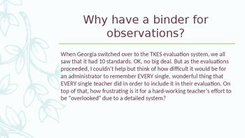 TKES: Teacher Evaluation/ Observation Tools