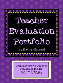 Teacher Evaluation Portfolio