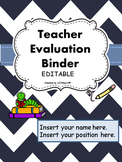 Teacher Evaluation Evidence Portfolio Binder EDITABLE