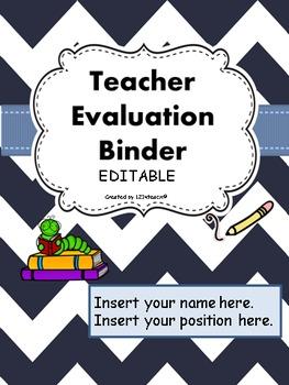 Teacher Evaluation Evidence Portfolio Binder EDITABLE