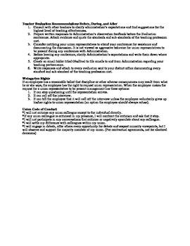 Teacher Evaluation Recommendations