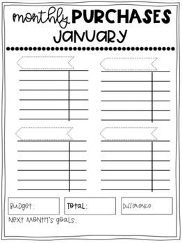 Teacher Expenses Tracking Binder
