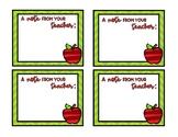 Teacher Feedback Cards