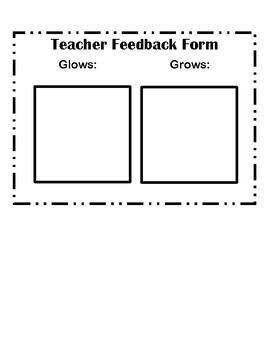 Teacher Feedback Form (Sticky-notes)