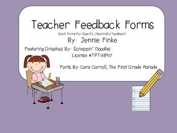 Teacher Feedback Forms