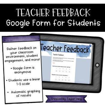 Teacher Feedback Google Form Survey