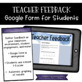 Teacher Feedback Google Form Survey