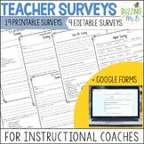 Teacher Feedback Surveys for Instructional Coaching - Prin