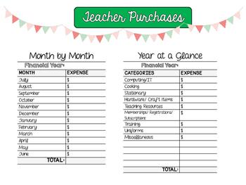 Teacher Finance Organiser Set