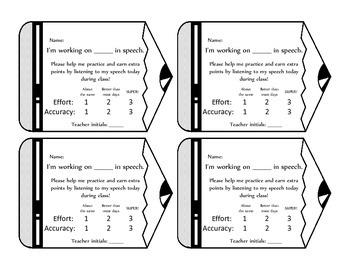 Teacher Form for In Class Speech Practice