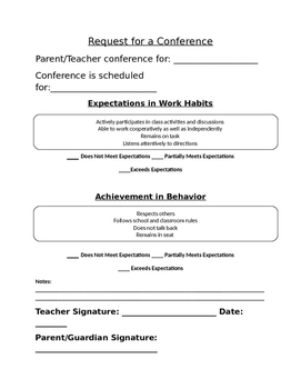 Teacher Forms