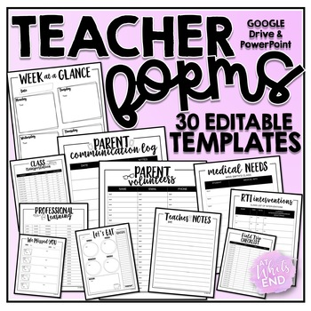 Teacher Forms GALORE! {EDITABLE} Back to School Printables
