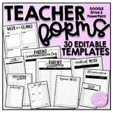 Teacher Forms and Lesson Plans