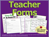 Teacher Forms - Includes Peer Eval Rubric and Teacher Welcome Letter {Editable}