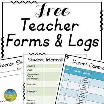 Teacher Forms to Build Positive Home-School Communication