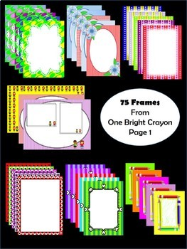 Borders and Frames  - Bright Colors - Unique Designs