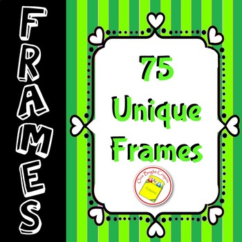Borders and Frames   - Bright Colors - Unique Designs -Printable
