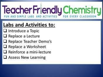Growing Chemistry Lab Bundle: 31 Labs 17 Inquiry PDF Ans. Keys, Lab Quiz
