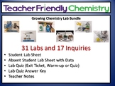 Growing Chemistry Lab Bundle: 31 Labs 17 Inquiry PDF Ans.