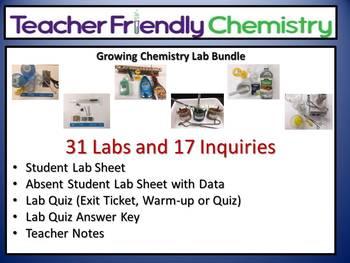 Chemistry Lab: Teacher Friendly Chemistry Labs & Activitie