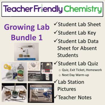 Chemistry Lab Bundle: Teacher Friendly Chem Binder 1 PDF/Word 31 Labs 17 Inq.