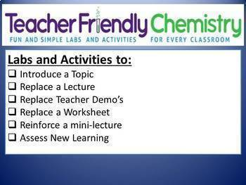 Growing Chemistry Lab Bundle:  29 Labs 27 Inq. PDF/Word Ans. Keys, Lab Quiz