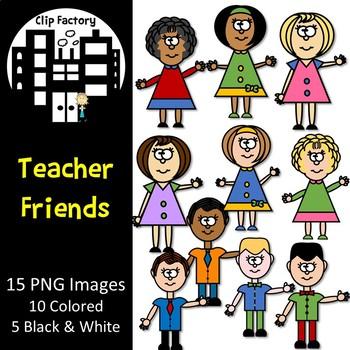 Teacher Friends Clip Art
