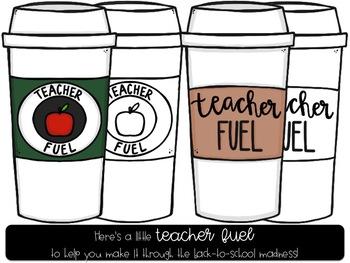 Teacher Fuel Digital Clip Art Freebie