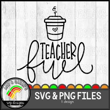 Teacher Fuel SVG Design