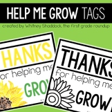 Teacher Appreciation GROW Gift Tags